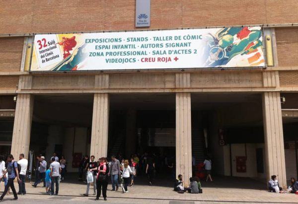 Salón del cómic de Barcelona: Entrada al pabellón principal