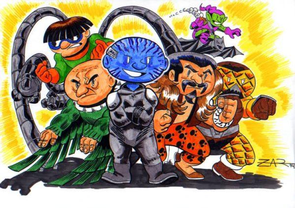 Seis siniestros, enemigos de Spider-Man (Color)