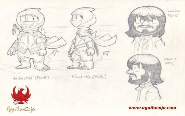 Águila Coja - Gonzalbo - Diseño de personajes