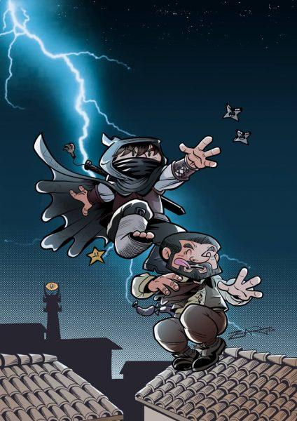 Águila Coja, el caballero oscuro - Homenaje al Dark Knight