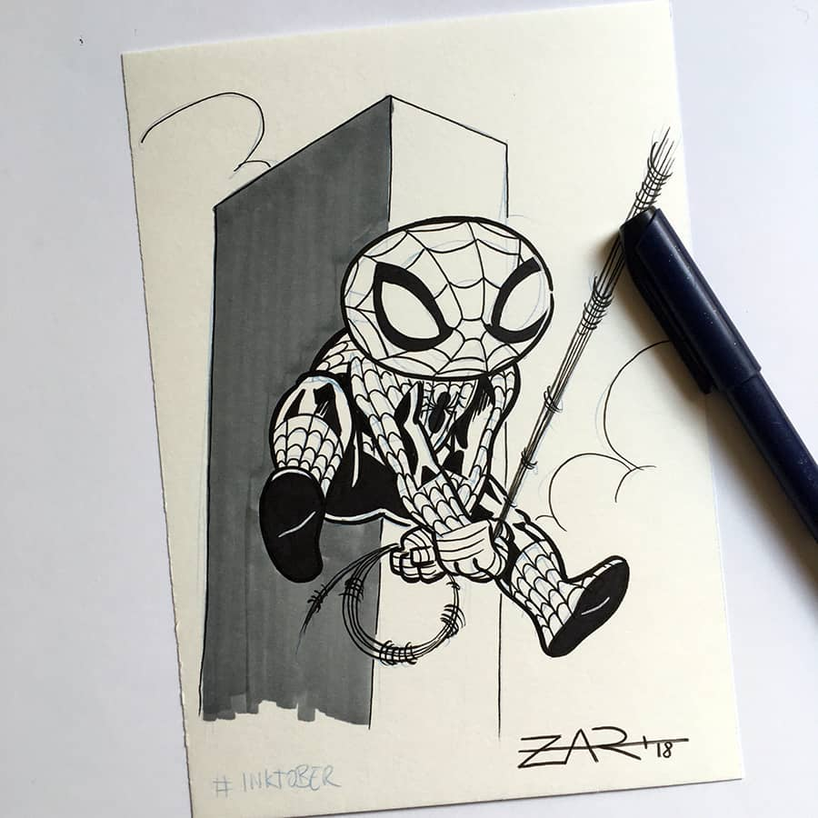 Inktober Spiderman